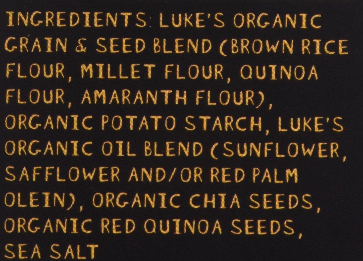 Lukes Organic Cracker Seed Chia Mltgrn - Pack of 3
