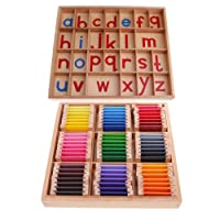 Sharplace Scatola Di Alfabeti Montessori In Legno Per Bambini+ Scatola Di Colori Sensorial Materiale