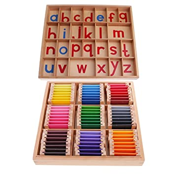99df4a26f3b0d Sharplace Montessori Moveable Alphabets Baby Early Learning Educational Toy  +Color Box