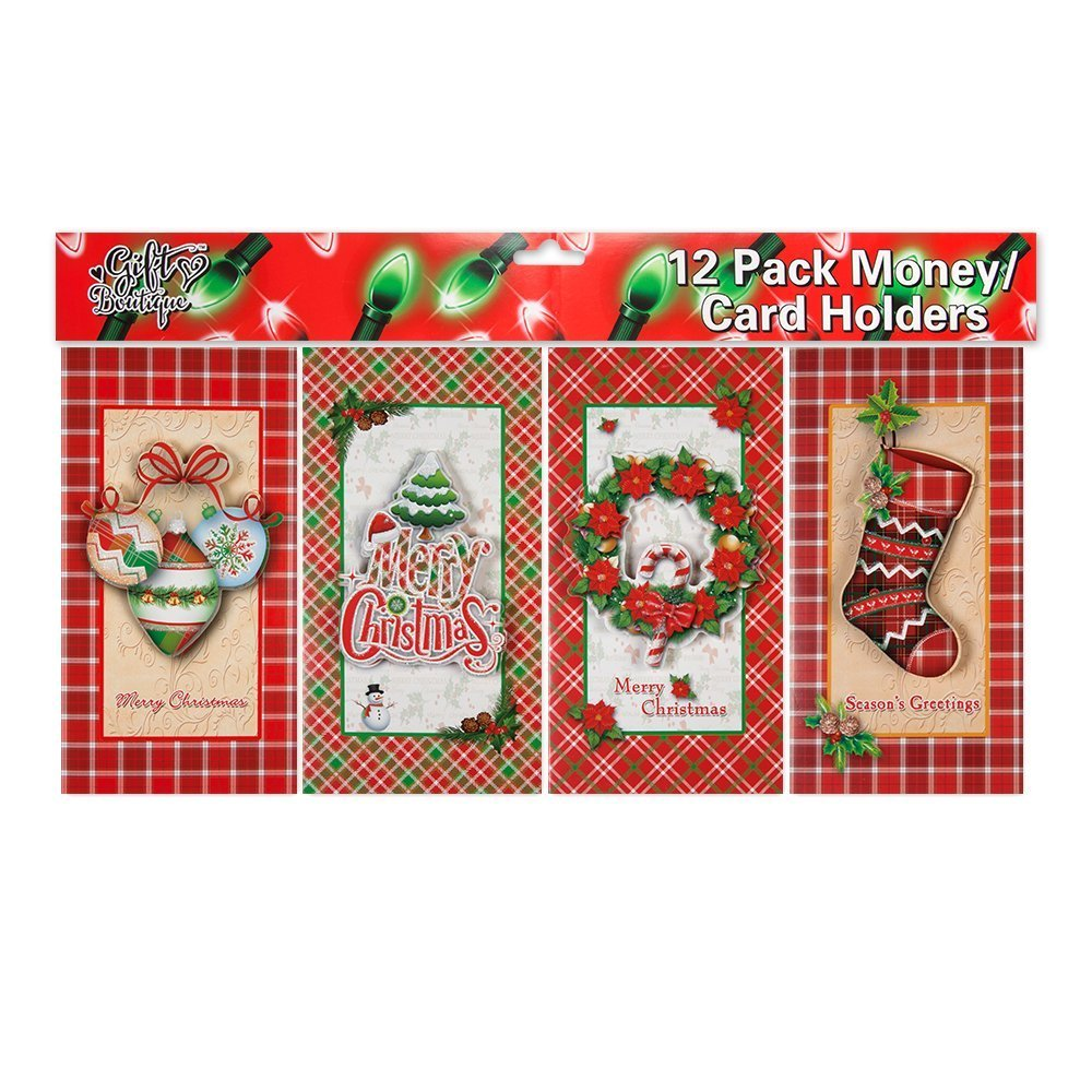 Amazon.com : 12 Ct. Pop up Christmas Money / Gift Card Holders with ...