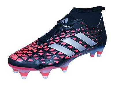 the latest 68068 c0b2e adidas Kakari Force SG - Crampons de Rugby - Noir Argent Rouge  Amazon.fr   Chaussures et Sacs