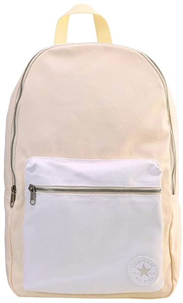 Converse All Star Core Canvas Backpack Bag Barley Organic Cream White a8141b0eabae3