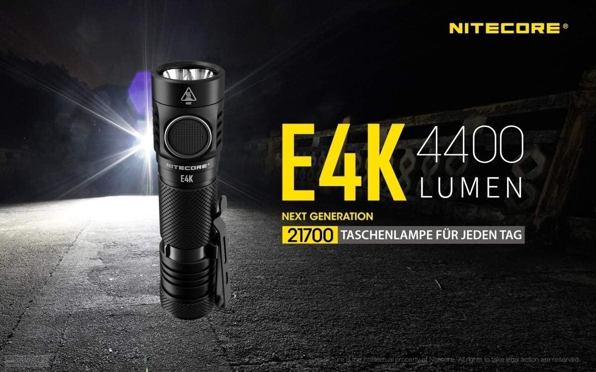 Nitecore E4K 4400 lumen flashlight