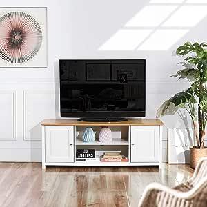 HOMYLIN - Mueble para TV (Madera y Armario), diseño Moderno para Sala de Estar: Amazon.es: Hogar