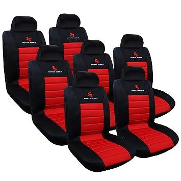 Woltu AS7257-7 7er fundas de asiento para coche universal único asiento cubierta asiento delantero cubre asiento protector de coche, juego completo, ...