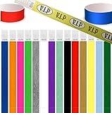 100 pièces bracelet identité Tyvek 19mm / 25mm, diverses couleurs