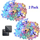 Amazon Price History for:Vmanoo Solar Outdoor Christmas String Lights 21ft 50 LED Fairy Flower Blossom Decorative Light for Indoor Garden Patio Party Xmas Tree Decorations 2-PACK (Multi-color)