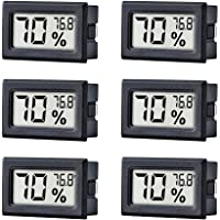 TAIWEI 6 Pack Mini Small Digital Electronic Temperature Humidity Meters Gauge Indoor Thermometer Hygrometer LCD Display…