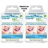 Cosmetic Teeth Uk Lot de 2kits de prothèses dentaires temporaires