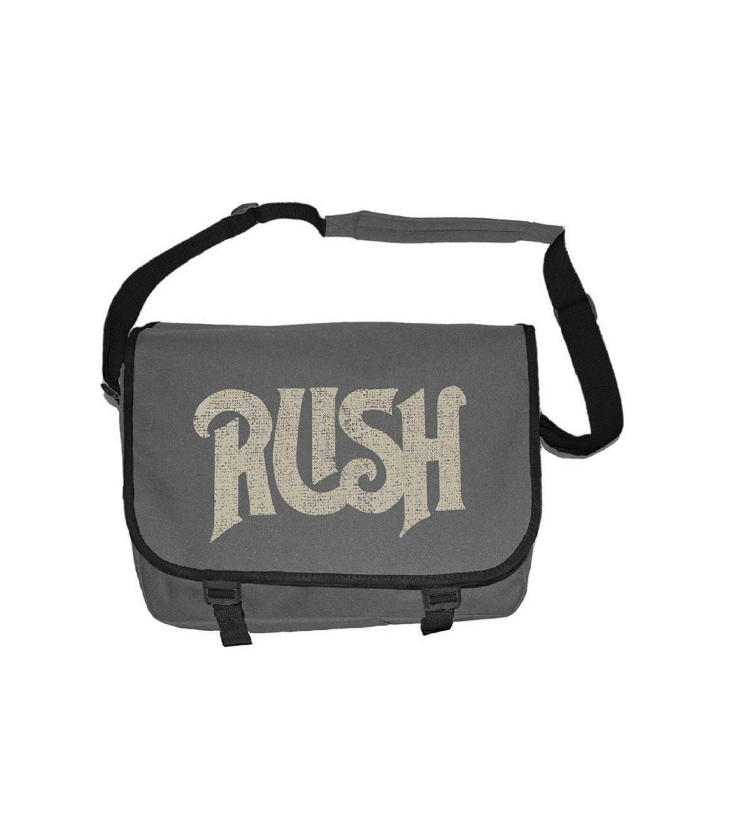 Rush Original vintage distressed Logo Official New Grey Messenger Bag