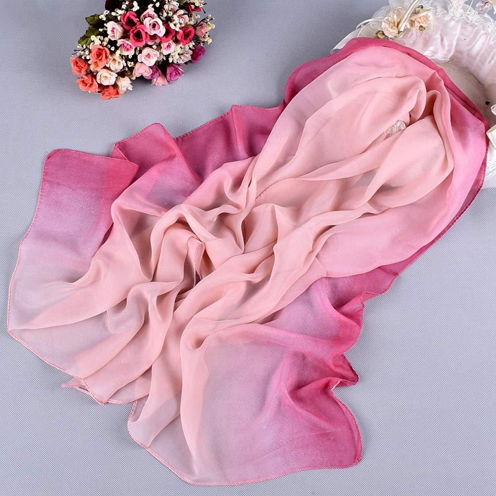 scialle di scialle di spiaggia Colori sfumati Sciarpe di protezione solare morbide Sciarpa di chiffon delle donne