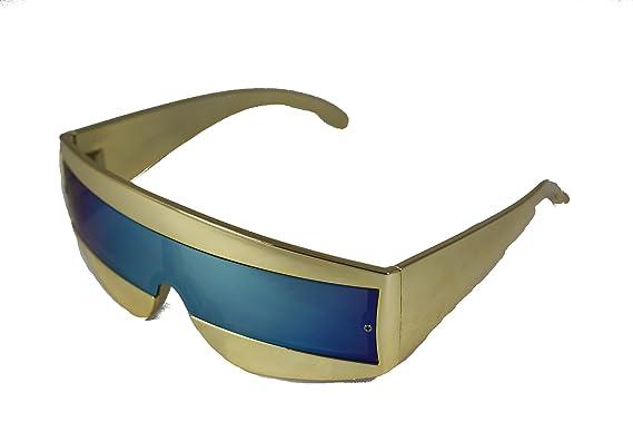 159ceb889f0 Cyclops Robot Wrap Sunglasses 80  s Devo RAF87 - Multicolour -  Amazon.co.uk   Clothing