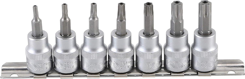 3//8 BGS 2597 10 mm   T-Profil f/ür Torx Bit-Einsatz mit Bohrung T45