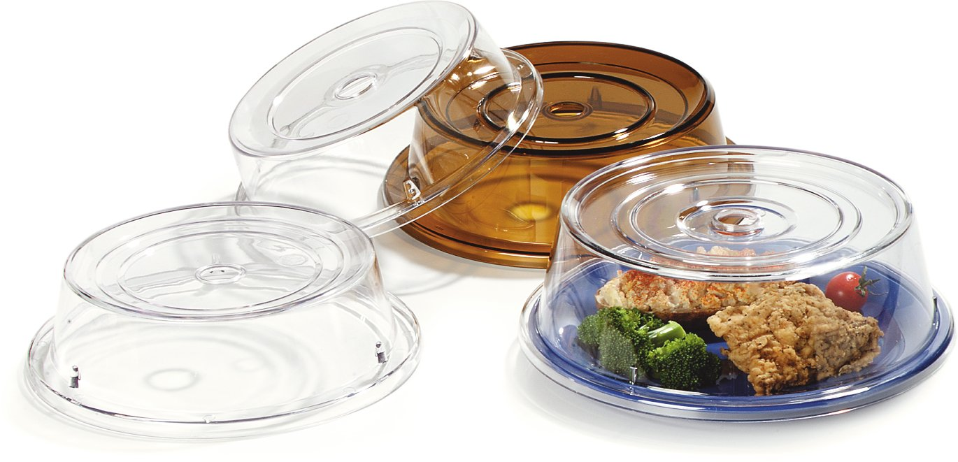 Carlisle 190007 Polycarbonate Plate Cover, 9.37'' Bottom Diameter x 2.56'' Height, Clear (Case of 12) by Carlisle (Image #6)