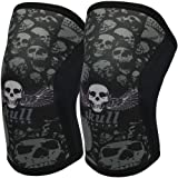 Knee Sleeves (1 Pair), 7mm Compression Knee Braces for Squats,Weightlifting,Powerlifting,Cross Training for Men & Women