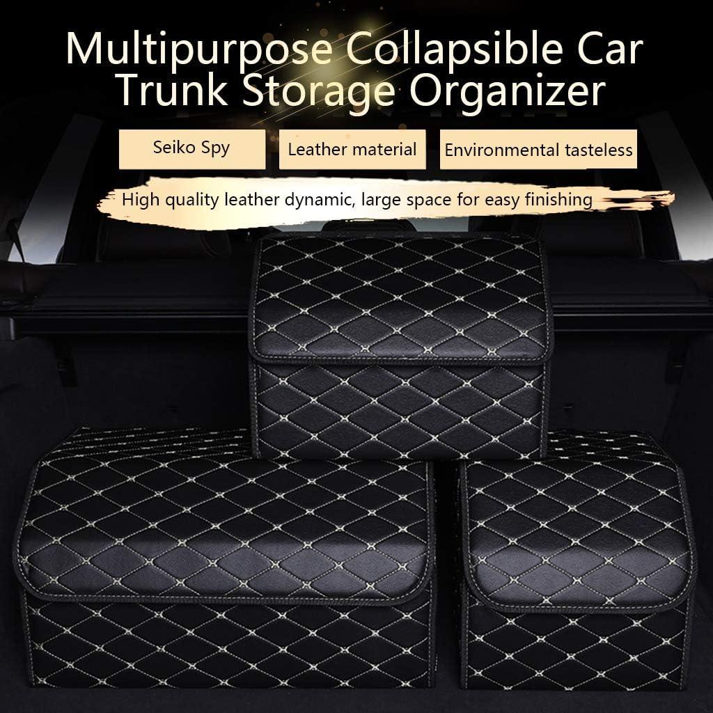 Mehrzweck-Kofferraumaufbewahrung mit Deckel Kofferraumaufbewahrung S Schwarz tragbarer Kofferraum-Organizer
