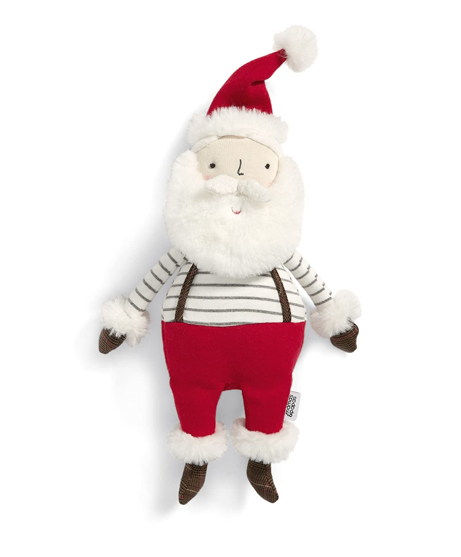 Mamas & Papas 4855AF900 Santa Soft Toy Gift, Christmas, Baby's 1st Christmas Baby's 1st Christmas