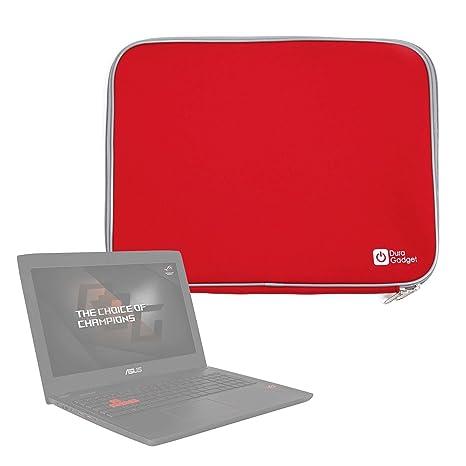 DURAGADGET Funda De Neopreno Roja para Portátil ASUS ROG GL502VT, ROG Strix GL553, ZenBook UX510 GL62: Amazon.es: Electrónica