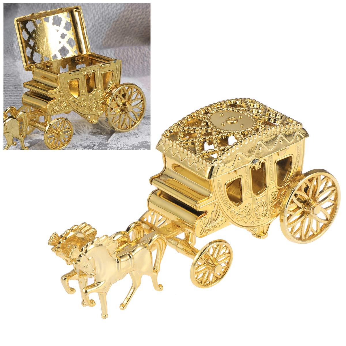 Oro YeahiBaby Wedding Carriage Favor Candy Gift Box Chocolate Scatola per bomboniera Compleanno Festa Nuziale Doccia