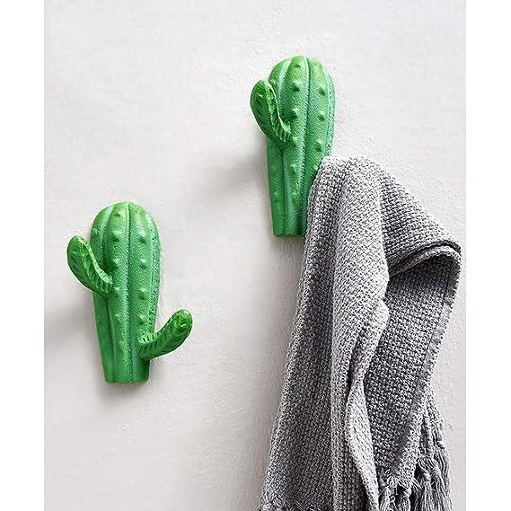 IHOOKS Creativo Cactus Diseño Perchero Resina Adorno Pared ...