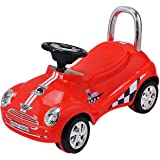 Costzon Kids Ride On Push Car, Toddler Scooter with Sound & Light (Red)
