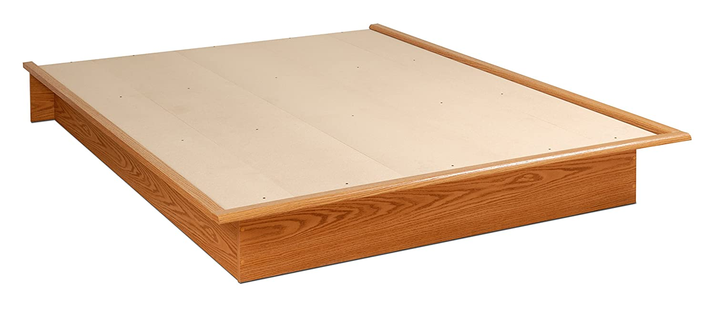 amazoncom oak queen platform bed kitchen  dining -