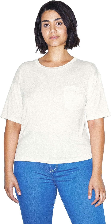 American Apparel Women's Mix Modal Pocket Short Sleeve T-Shirt