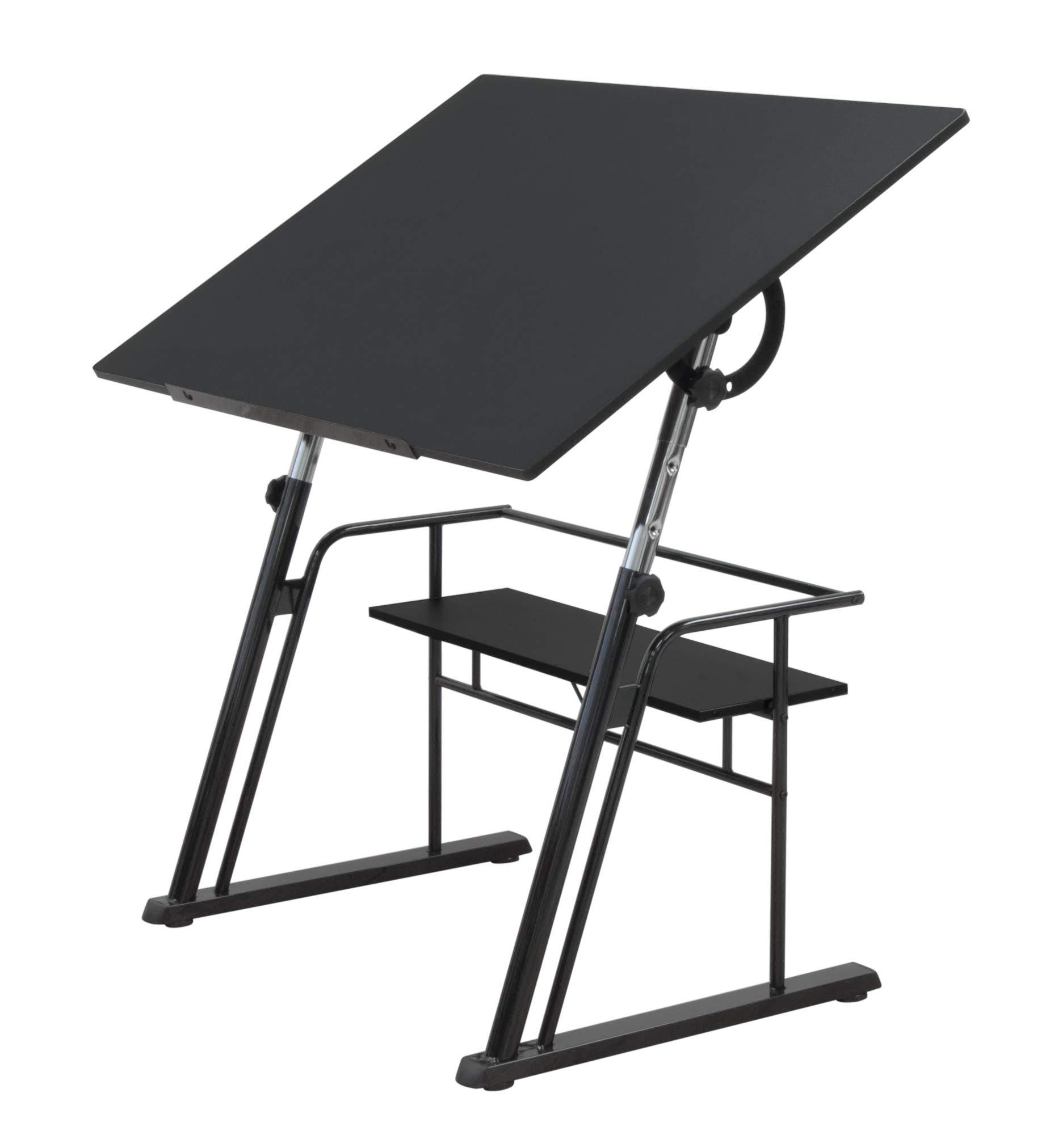 STUDIO DESIGNS Zenith Craft Desk Drafting Table, Top Adjustable Drafting Table Craft Table Drawing Desk Hobby Table Writing Desk Studio Desk, Black, 13340 by SD STUDIO DESIGNS