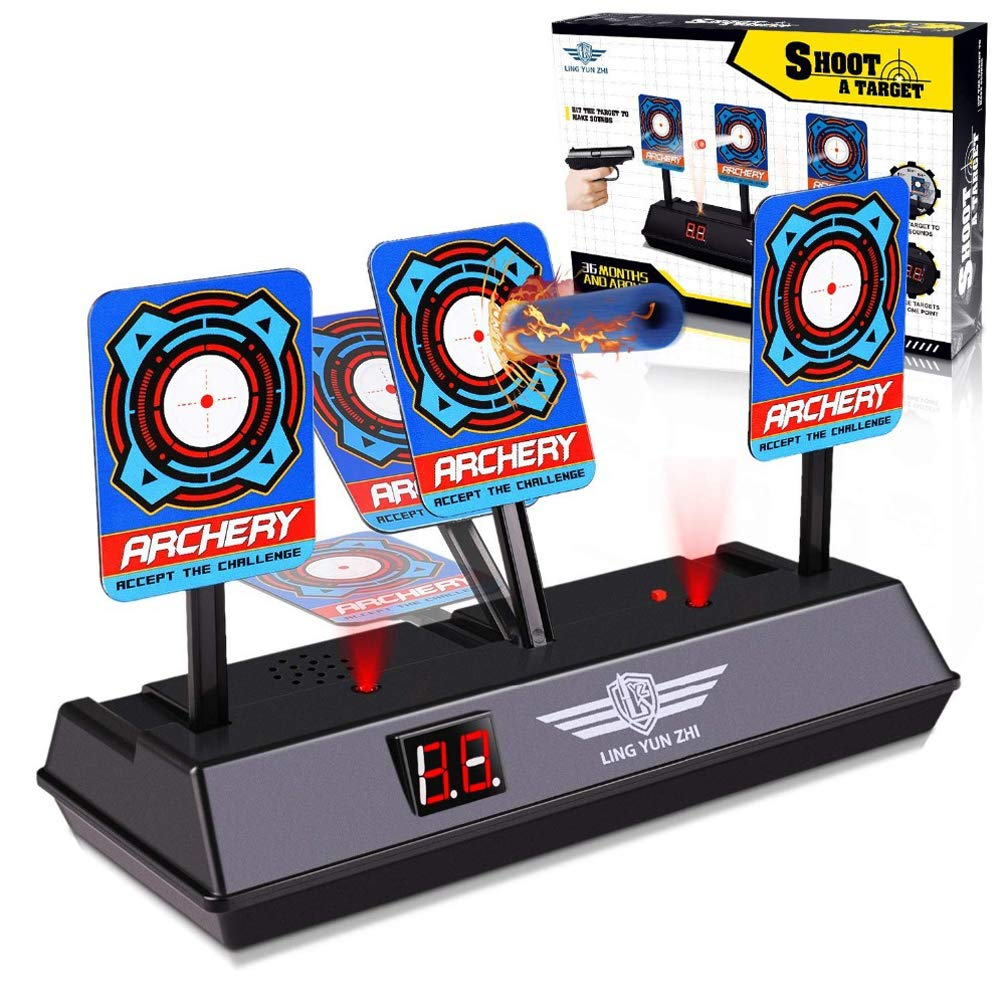 4df97fd93 Amazon.com: Qukueoy Shooting Targets for Kids Toy Guns Nerf/N-Strike  Elite/Mega/Rival,Electronic Scoring Target Shooting Game Accessories, Auto  Reset, ...