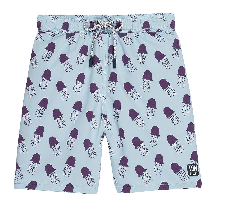 b7bb14c5a353f Amazon.com: Tom & Teddy Men's Elastic Waist Animal Print Swim Trunks:  Clothing