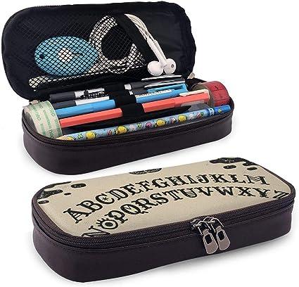 Estuche para lápices con cremallera para guardar cosméticos, maquillaje, artículos de papelería para niños, estudiantes, niños, niñas, hombres, mujeres, para oficina, escuela, accesorios, tabla Ouija: Amazon.es: Oficina y papelería