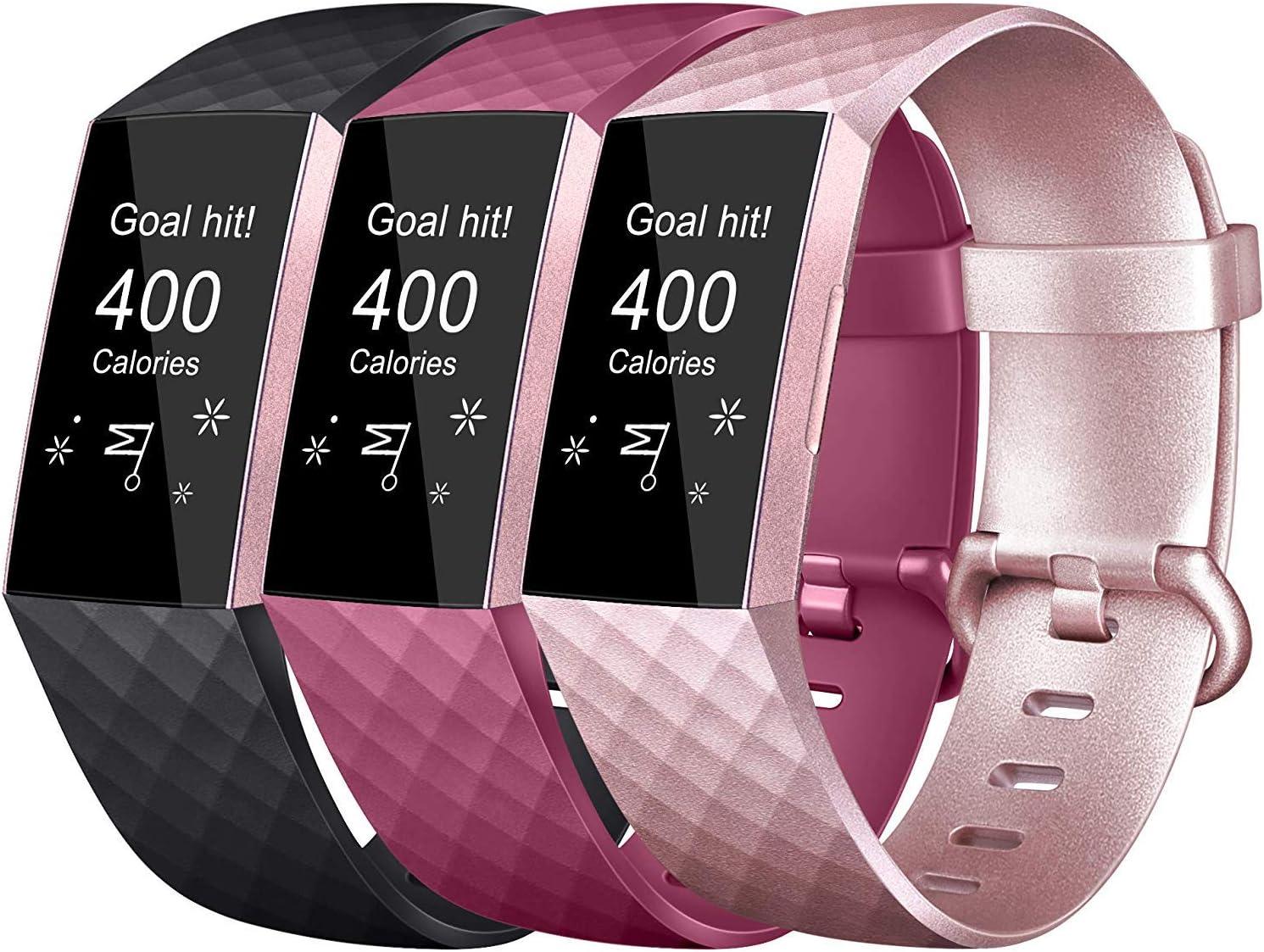 bracelets sport classique Petite grande sangle de remplacement r/églable pour Fitbit Charge 3//Fitbit Charge 3 SE No Tracker Vancle Compatible avec Fitbit Charge 3 Bracelet /& Fitbit Charge 3 SE Bracelet