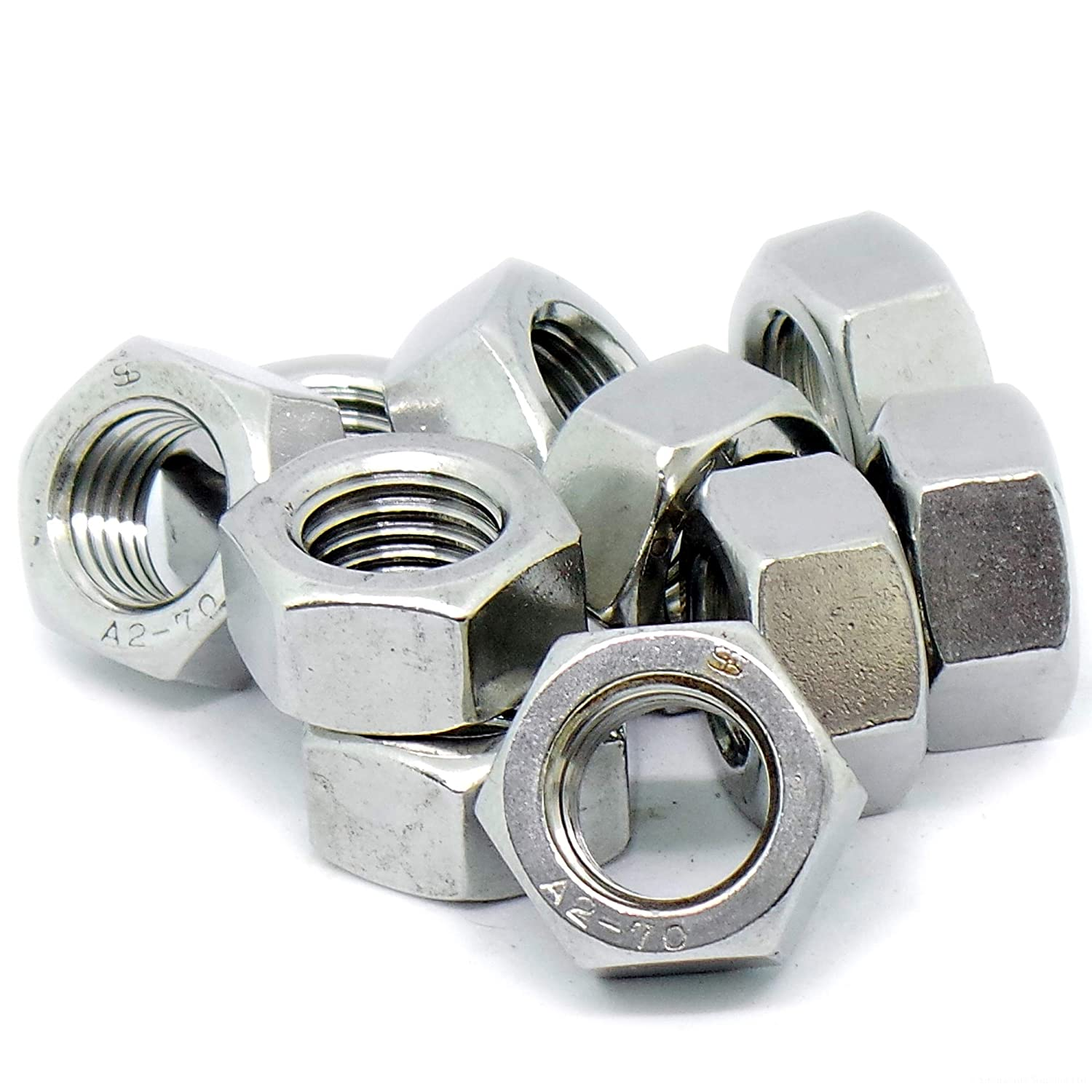 M16 (16mm) Hex Nuts - Stainless Steel (A2) (Pack of 10) Singularity Supplies Ltd