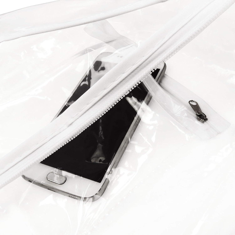 Hangerworld Extra breiter Kleidersack f/ür Brautkleider 183cm Transparent Wasserabweisend
