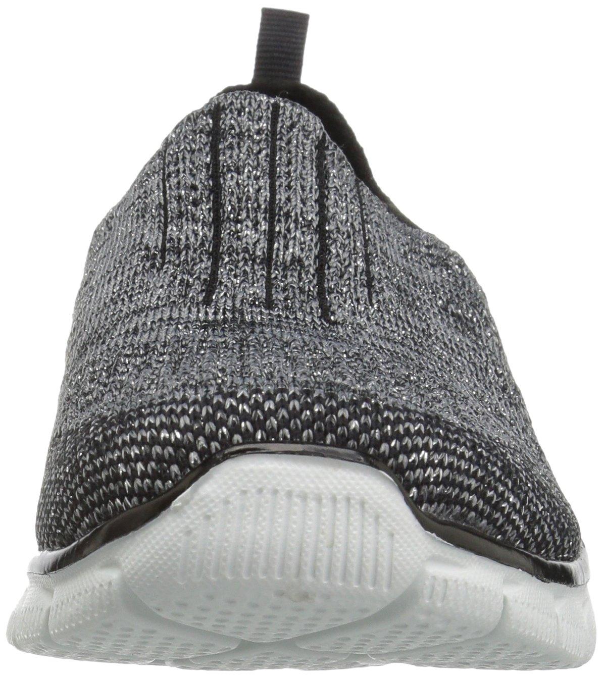 Skechers Sport Women's Empire Inside Look Fashion Sneaker B01HOBS1AI 8 B(M) US|Black/Silver