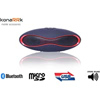 KONARRK Portable Wireless Bluetooth Rugby Style Mobile/Tablet Speaker (Colour May Vary)