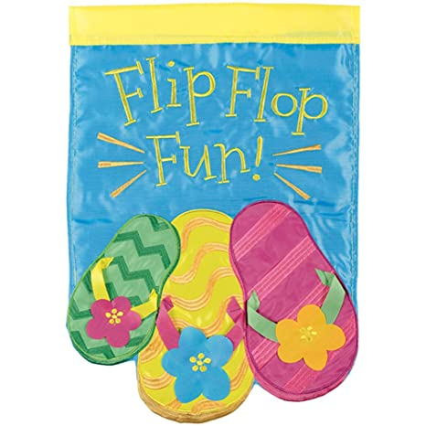 364c649abf4a Image Unavailable. Image not available for. Color  Carson Applique House  Flag - Summer Flip Flops