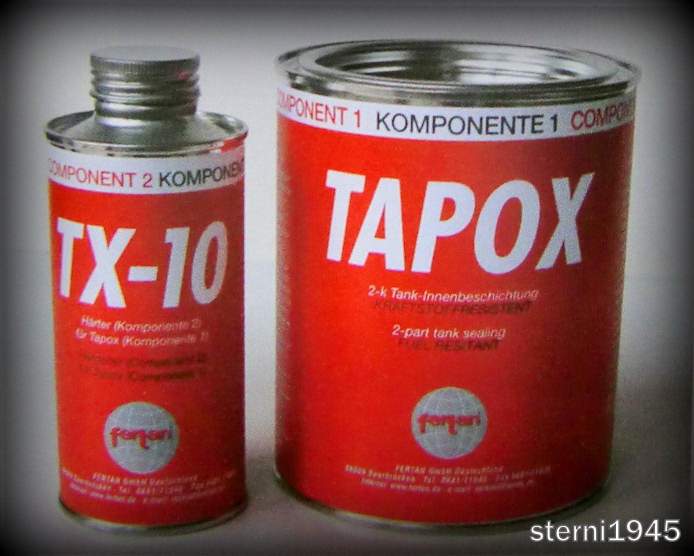 Fertan Tapox 2 Komponenten Tankversiegelung Tank Rost Auto Motorrad Tankbeschichtung Innenbeschichtung Tankrestaurierung Auto