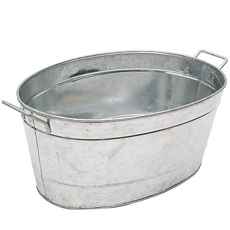 Achla Designs Standard Oval Galvanized Steel Tub