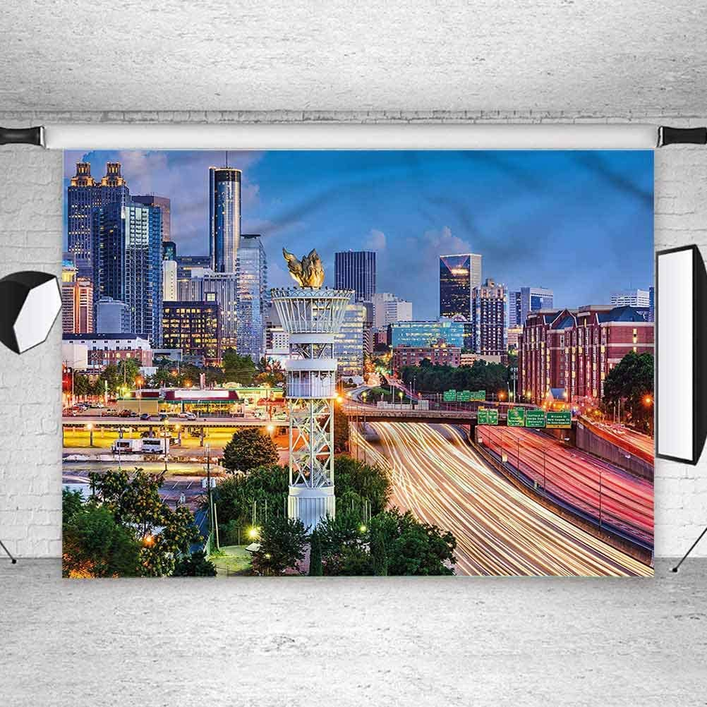 8x8FT Vinyl Wall Photography Backdrop,United States,Atlanta Georgia Photo Backdrop Baby Newborn Photo Studio Props