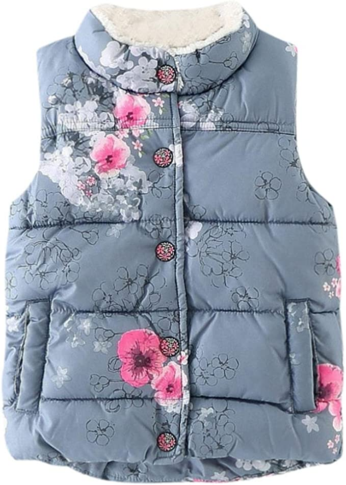 KONFA Teen Toddler Baby Girls Winter Warm Clothes,Fur Hooded Cotton Jacket Wind Coat,Kids Cartoon Cats Snowsuit Set
