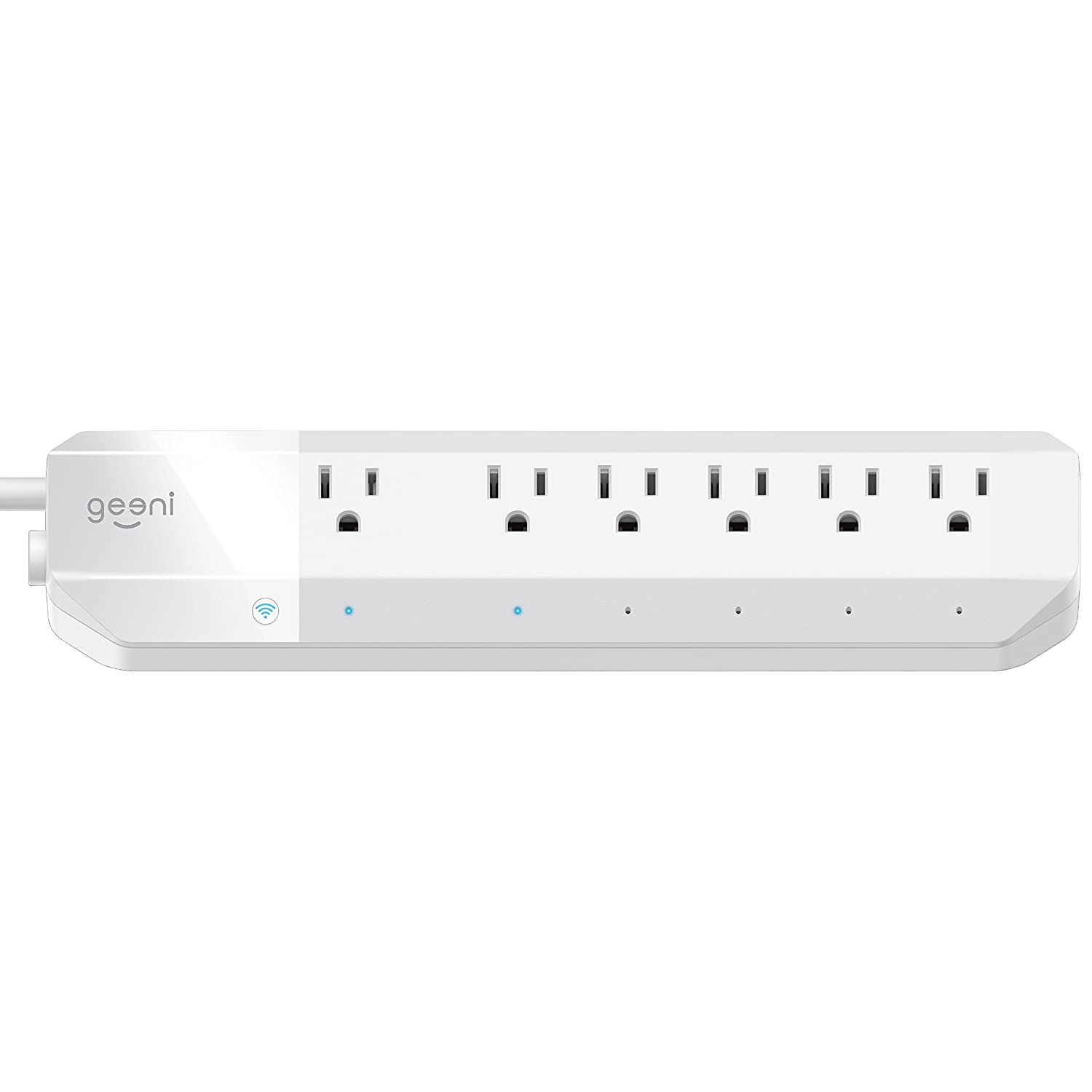 Geeni - Surge Smart Wi-Fi 6-Outlet Surge Protector Strip