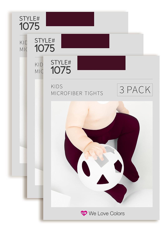 Kids Microfiber Tights Maroon 3 Pack