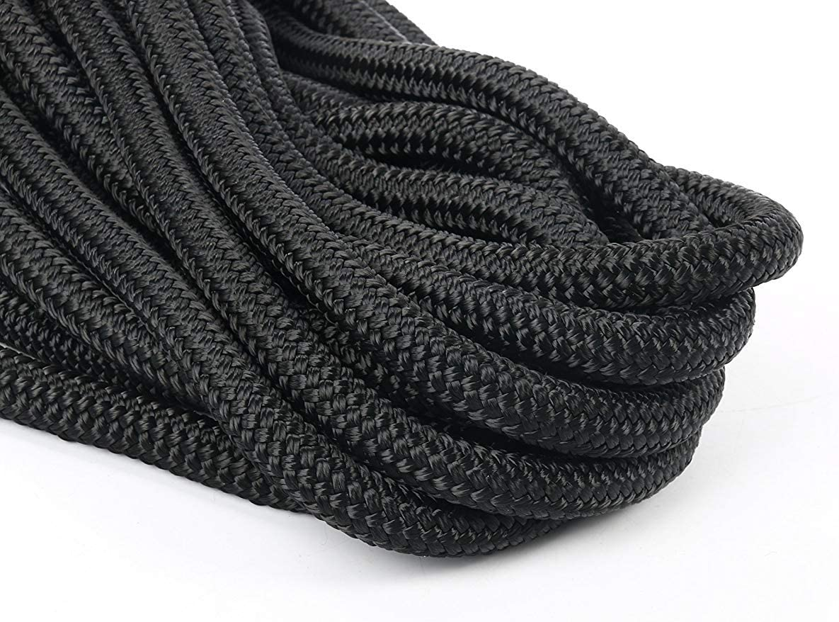 Amarine Made 2-Pack,1//2 Inch,15FT Double Braid Nylon Dockline Mooring Rope Double Braided Dock Line,Marine Ropes for Boats