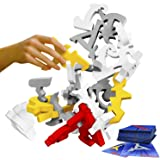 Quaggle Stacking Balance Game - Wood Blocks - Premium Suspend Game - 2 to 12 Players for Kids, Adults, Family - Develop Hand-