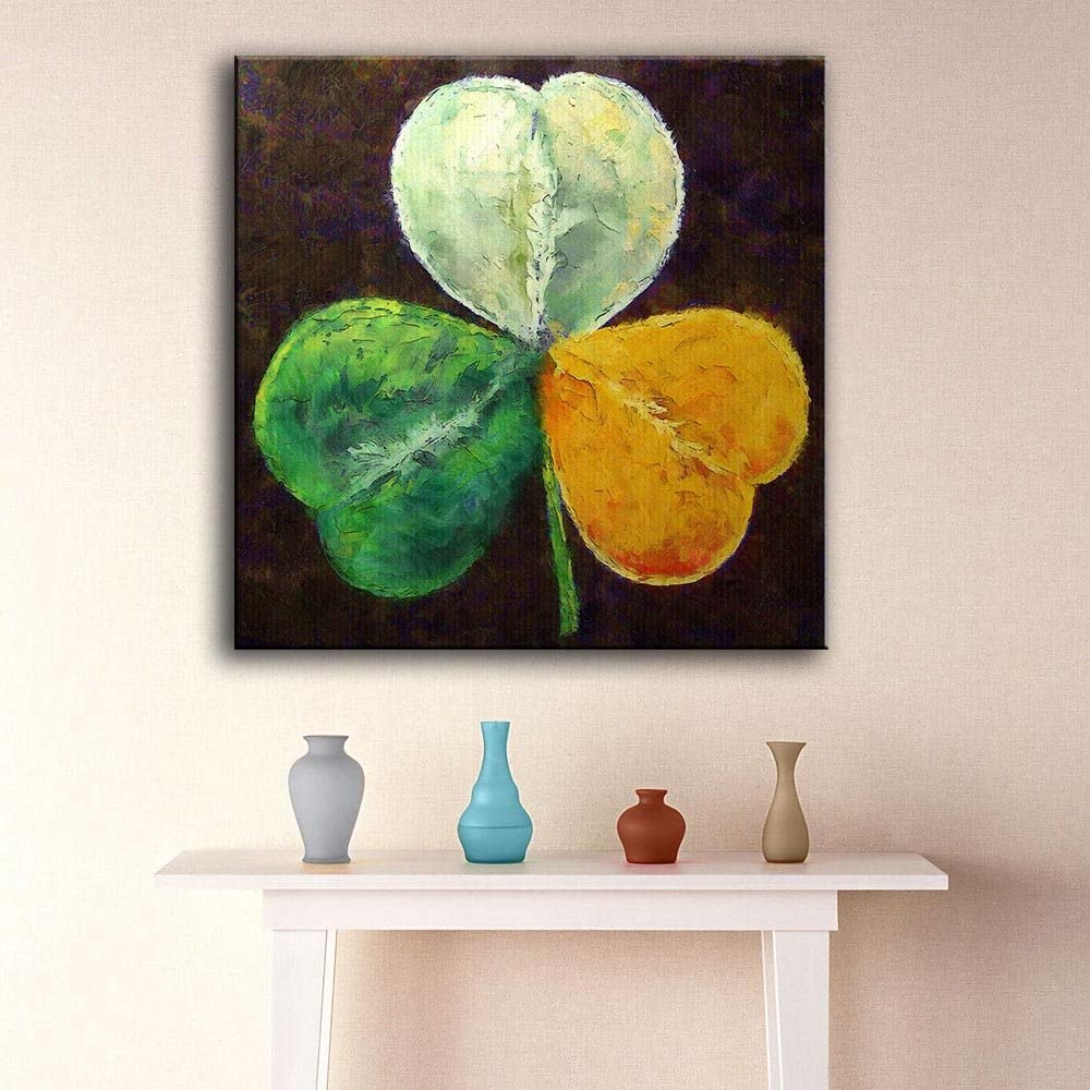 WZMFBH Wall Art Large Size Paintings Irish-Shamrock Home Decorative Wall Art Picture For Living Room Painting No Frame
