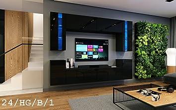 HomeDirectLTD Wohnwand Future 24 Moderne Wohnwand, Exklusive Mediamöbel,  TV Schrank, Neue Garnitur