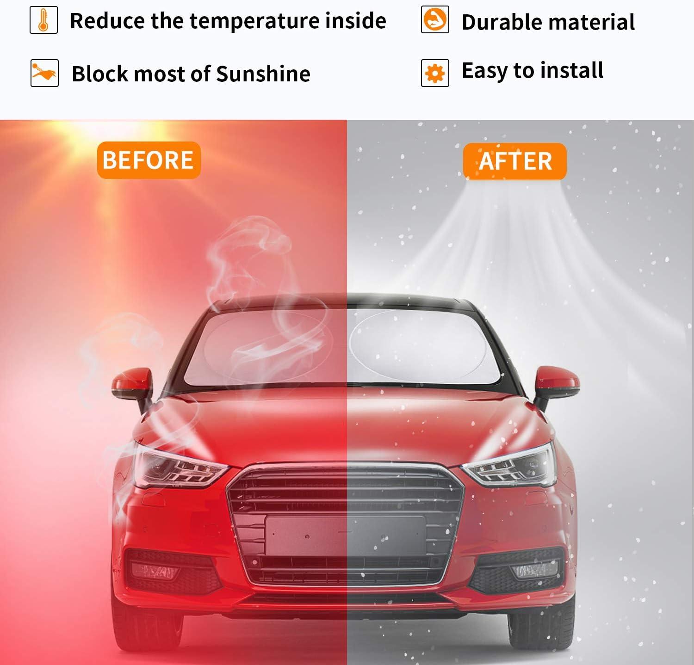 Auto-Sonnenschutz 1Sonnenschutz Auto Schutz gegen Kratzer wiederaufladbar f/ür Sonnenstrahlen S UV-Schutz PEYOU +2 Sonnensegel Sonnenschutz f/ür Windschutzscheibe 160cm X83CM 3 St/ück, Universale