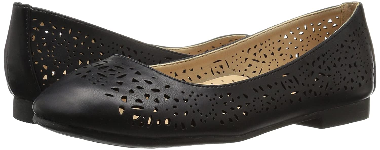 Annie Shoes Women's Esteppe Wide Calf Flat B01GKEB6BG 7 W US|Black