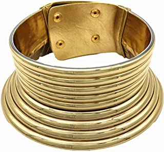 Women Necklace,Wuwen African National Adjustable Flamboyant Personality Creative Large Collar Choker Gold & Silver (Silver)